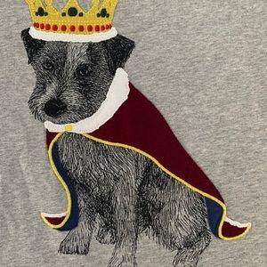 Boys Mini Boden Royal Dog Long Sleeve Tee